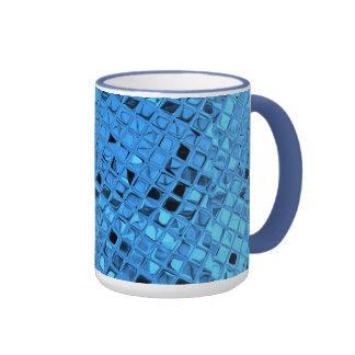 Shiny Metallic Girly Blue Diamond Sissy Sassy Ringer Mug
