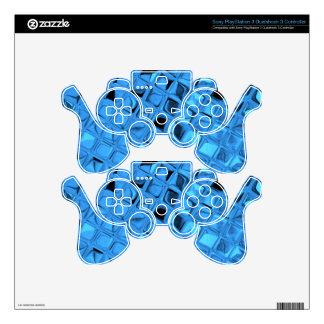 Shiny Metallic Girly Blue Diamond Sissy Sassy PS3 Controller Decals