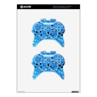 Shiny Metallic Girly Blue Diamond Sissy Sassy Xbox 360 Controller Skin