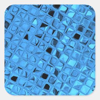 Shiny Metallic Girly Blue Diamond Sissy Sassy Square Sticker