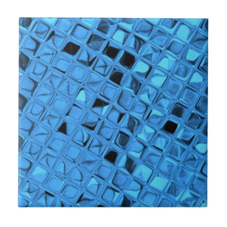 Shiny Metallic Girly Blue Diamond Sissy Sassy Triv Tile