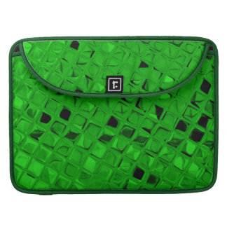 Shiny Metallic Girly Emerald Green Diamond Mirrors Sleeve For MacBooks