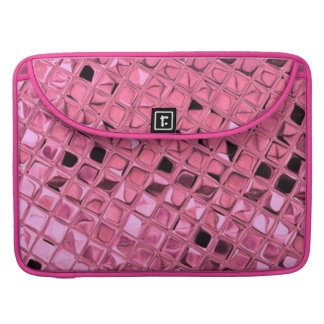 Shiny Metallic Girly Pink Diamond Mirrors Sissy Sleeves For MacBook Pro