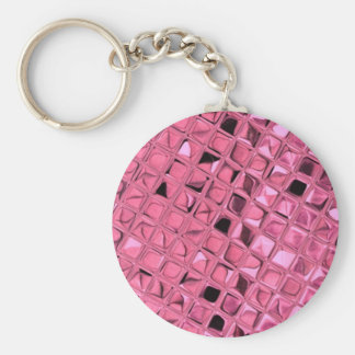 Shiny Metallic Girly Pink Diamond Sissy Sassy Keychain