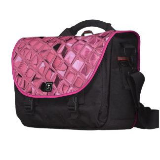 Shiny Metallic Girly Pink Diamond Sissy Sassy Laptop Messenger Bag
