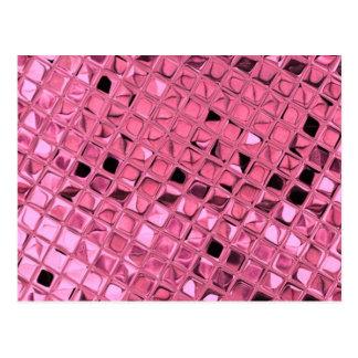 Shiny Metallic Girly Pink Diamond Sissy Sassy Postcard