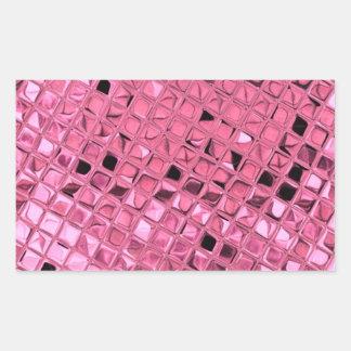 Shiny Metallic Girly Pink Diamond Sissy Sassy Rectangular Sticker