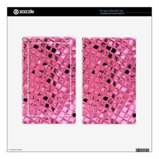 Shiny Metallic Girly Pink Diamond Sissy Sassy Skins For Kindle Fire