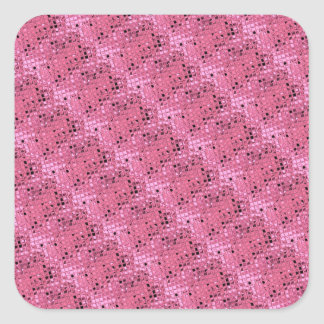 Shiny Metallic Girly Pink Diamond Sissy Sassy Square Sticker