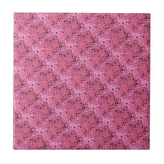 Shiny Metallic Girly Pink Diamond Sissy Sassy Ceramic Tile