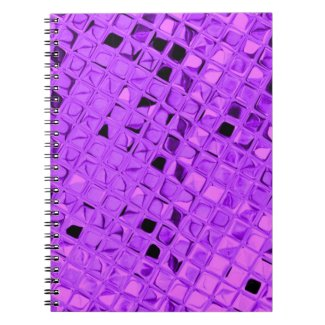 Shiny Metallic Girly Purple Diamond Sissy Sassy Journals