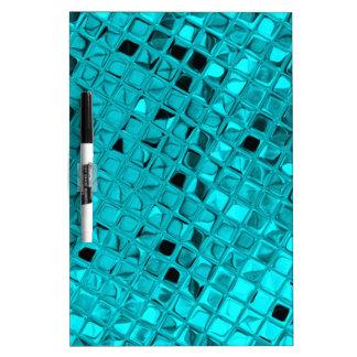 Shiny Metallic Girly Teal Diamond Sassy Sissy Dry-Erase Board