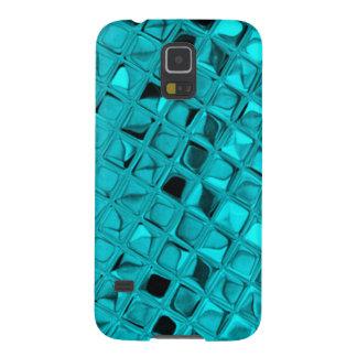 Shiny Metallic Girly Teal Diamond Sassy Sissy Galaxy S5 Cover