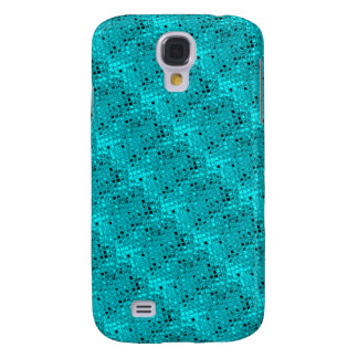 Shiny Metallic Girly Teal Diamond Sassy Sissy Samsung Galaxy S4 Case