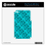 Shiny Metallic Girly Teal Diamond Sassy Sissy iPod Touch 4G Decal