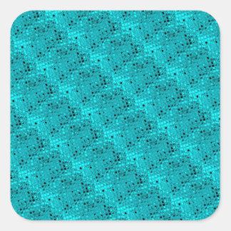 Shiny Metallic Girly Teal Diamond Sassy Sissy Square Sticker