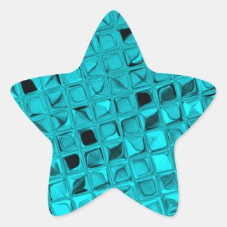 Shiny Metallic Girly Teal Diamond Sassy Sissy Star Sticker