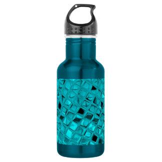 Shiny Metallic Girly Teal Diamond Sassy Sissy Water Bottle