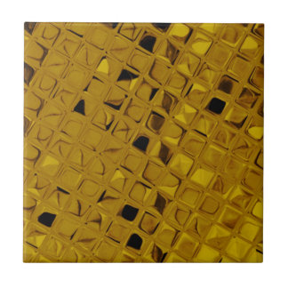 Shiny Metallic Girly Yellow Gold Diamond Ceramic Tile