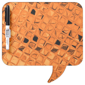 Shiny Metallic Orange Diamond Dry Erase Board