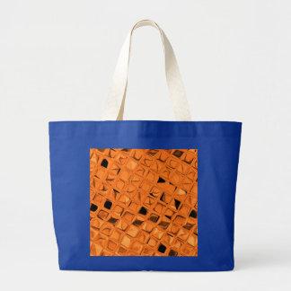 Shiny Metallic Orange Diamond Royal Blue Bags