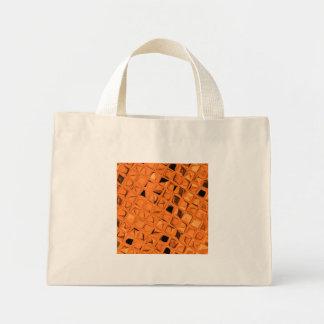 Shiny Metallic Orange Diamond Sassy Small Fashion Canvas Bags