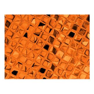 Shiny Metallic Orange Diamond Sissy Sassy Postcard