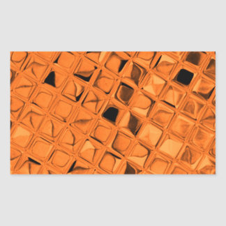Shiny Metallic Orange Diamond Sissy Sassy Rectangular Sticker