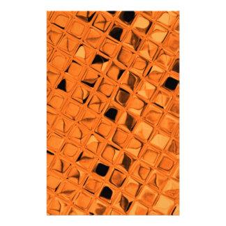 Shiny Metallic Orange Diamond Sissy Sassy Stationery