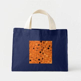 Shiny Metallic Orange Diamond Small Navy Blue Bags