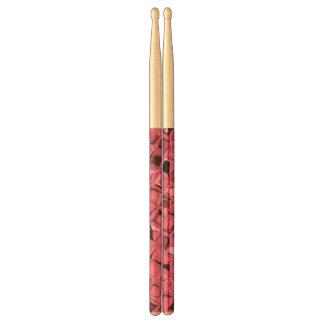 Shiny Metallic Pink Diamond Faux Serpentine Drum Sticks