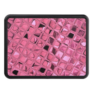 Shiny Metallic Pink Diamond Faux Serpentine Tow Hitch Cover