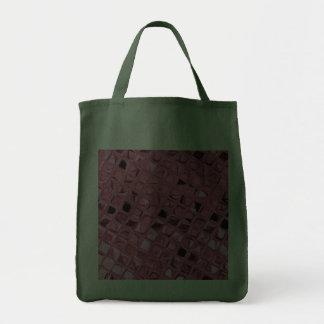 Shiny Metallic Pink Diamond Reusable Hunter Green Bags