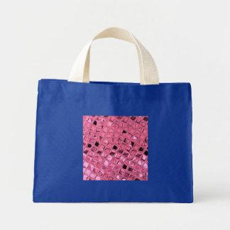 Shiny Metallic Pink Diamond Small Royal Blue Bag