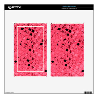 Shiny Metallic Red Diamond Faux Serpentine Kindle Fire Skin