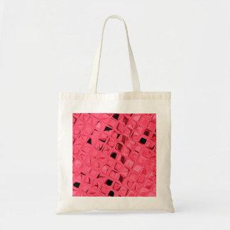 Shiny Metallic Red Diamond Party Favor Gift Tote Bag