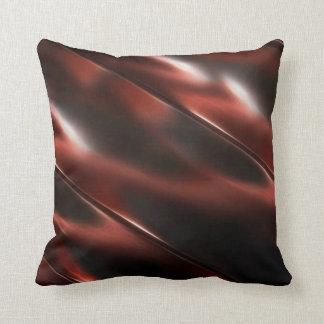 Shiny metallic red throw pillow