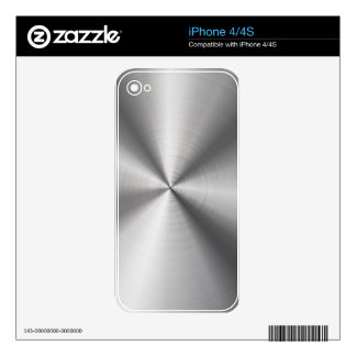 Shiny Metallic Stainless Steel Look Pattern Decals For The iPhone 4S