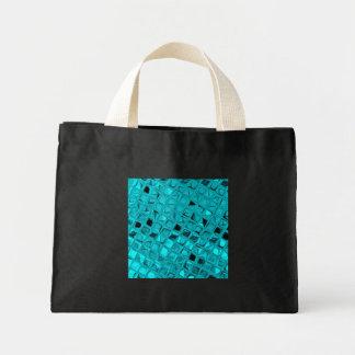 Shiny Metallic Teal Diamond Small Black Fashion Bags