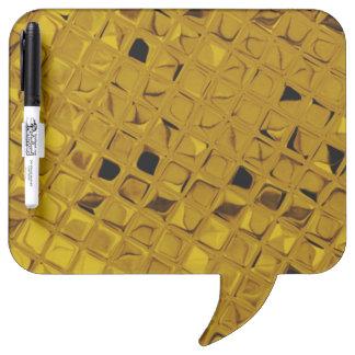 Shiny Metallic Yellow Gold Diamond Dry-Erase Board