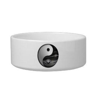 Shiny Metallic Yin and Yang Symbol Bowl