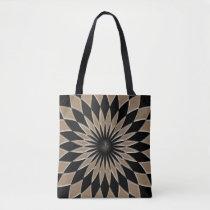 Shiny metallizer gray and black glass texture bag