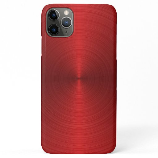 Shiny minimalistic red metallic background iPhone 11 pro max case