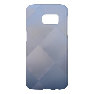 Shiny Modern Checkered Metal Blue