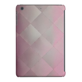 Shiny Modern Checkered Metal Pink