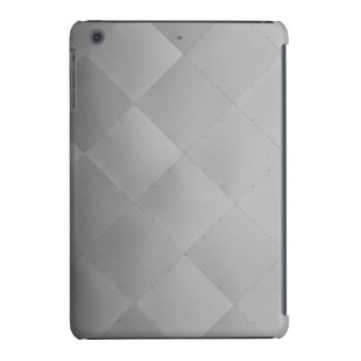 Shiny Modern Checkered Metal Silver