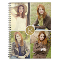 Shiny Monogram Custom Notebook