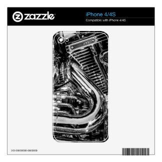 Shiny motorbike engine iPhone 4 skin