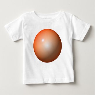 Shiny orange ball simple design graphic image tees