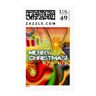 Shiny Ornaments Postage Stamps